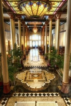 The gorgeous Driskill Hotel in Austin is filled with character and is a landmark of Texas hospitality.