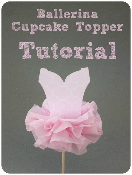Ballerina Party Cupcake Topper