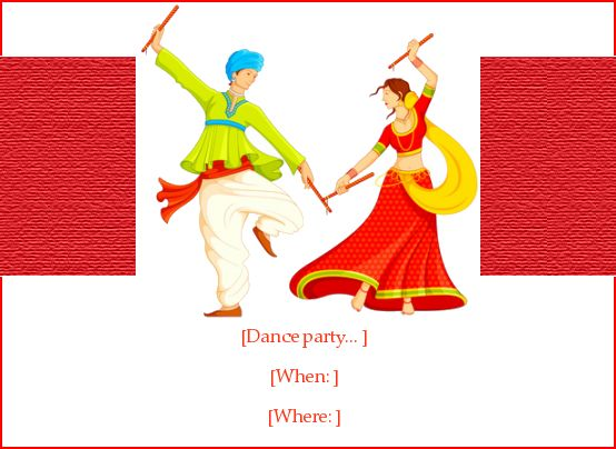Dandiya Dance | Holi Invitation, e-Card greeting | EventEve.com