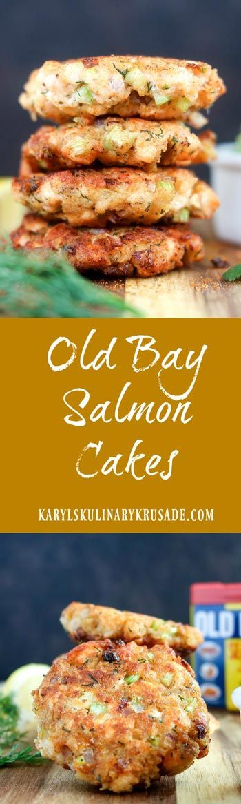 Old Bay Salmon Cakes - Karyl's Kulinary Krusade