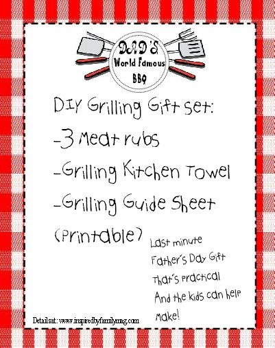 Father's day -diy grilling gift set- Simple, practical and best of all the kids can help