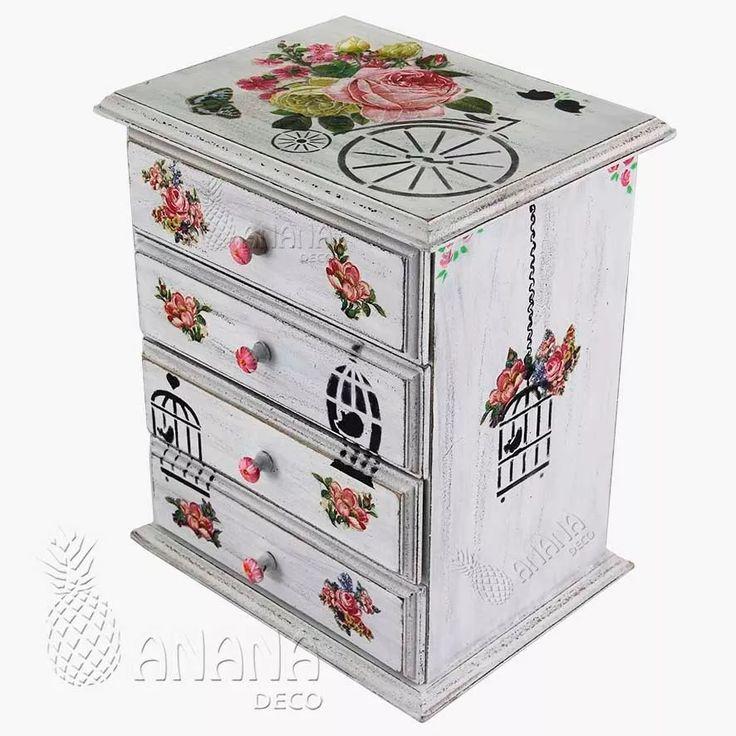 M s de 25 ideas incre bles sobre cajas decoradas en - Caja joyero ikea ...