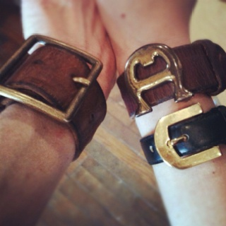 Vintage repurposed leather belt cuffs hot 36 things Repurposed leather belts