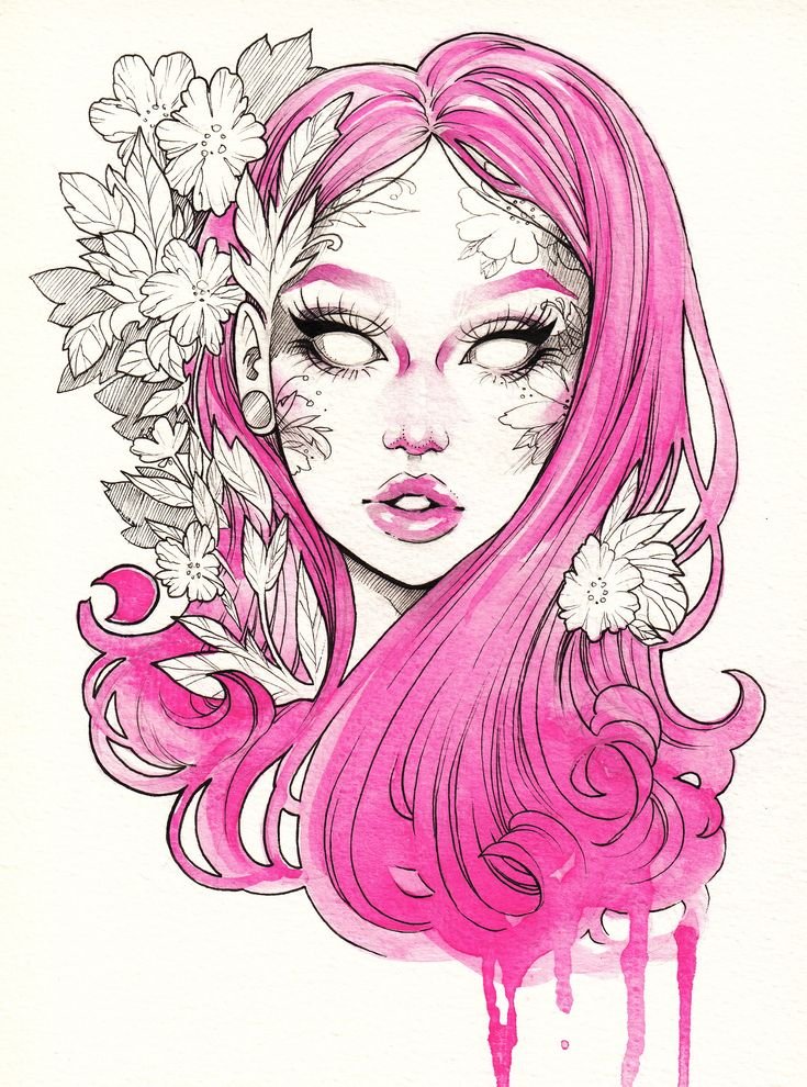 """Limited+Edition+print+of+""""Secret+Garden""""+by+Gwen+D'Arcy+on+high+quality+exhibition+grade+paper.+Original+piece+created+with+Watercolors+&+Faber-Castell+PITT/Copic+ink+liners+on+watercolor+paper."""