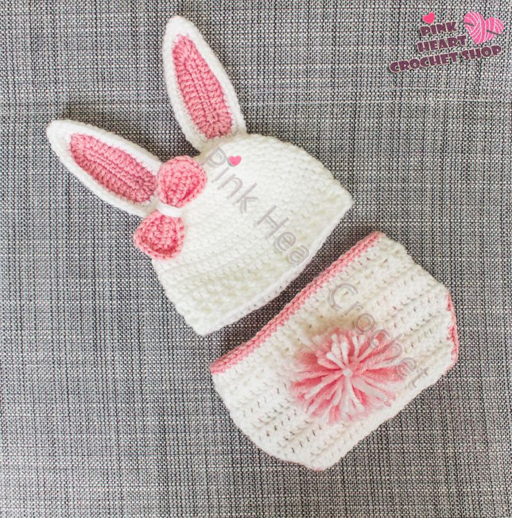 Crochet Pink Bunny Baby outfit , girl outfit ,newborn photo session, white bunny ,baby outfit,crochet baby outfit , baby girl , pink girl by PinkHeartCrochetShoP on Etsy