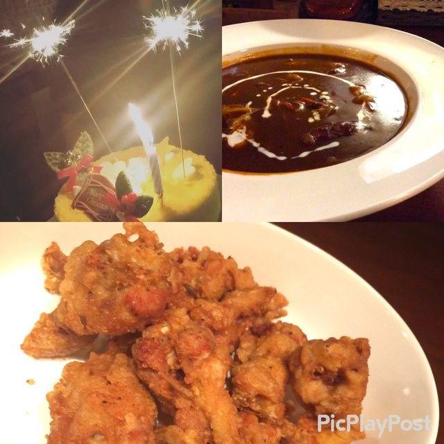 ☆ 昨日はクリスマス #コサリウォン では お客様と一緒にクリスマスパーティーしました!  魔女の #チキン と 魔女の手下が作ってくれた #ビーフシチュー とっても美味しかった❤️ #맛있다 #먹스타그램  #치킨 #群馬 #韓国料理 #韓国料理 #COSARI #太田 #コサリ