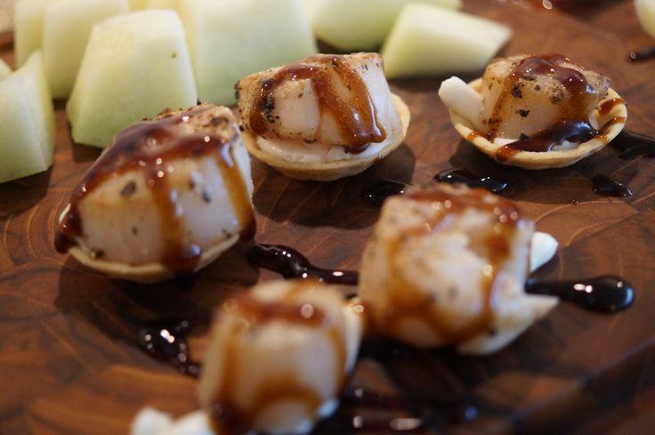 Tapas – Kammuslinger med aioli og glaze