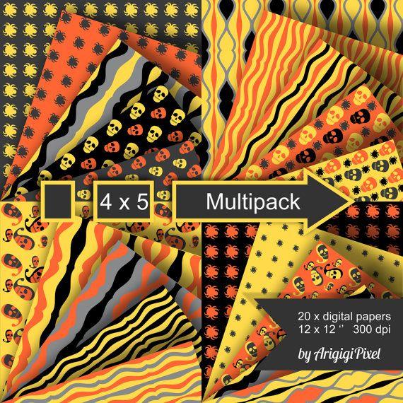 Halloween Multipack documentos digitales collage por ArigigiPixel