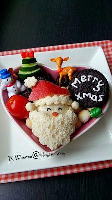 婉婉下午茶: Santa Claus Bento