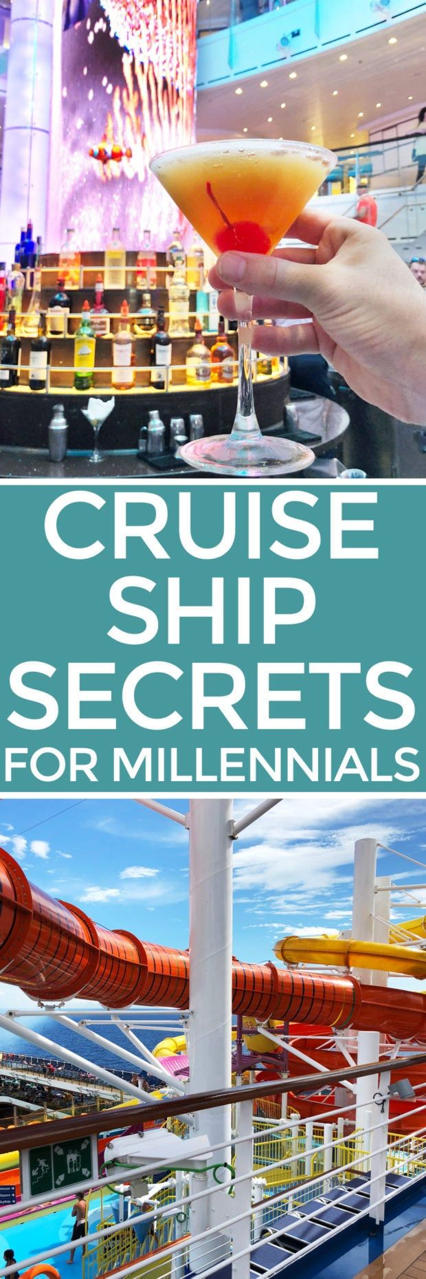 When you want to get the most out of your vacation at sea, look no further than my Cruise Ship Secrets for Millennials. Whether you have never been cruising before or are a seasoned pro, my tips and tricks to making the most out of your cruise on the Carnival Vista are going to open your eyes to so much more than simply lounging by the pool and going on excursions.  @carnivalcruise | cakenknife.com #cruisingcarnival #travel #cruise