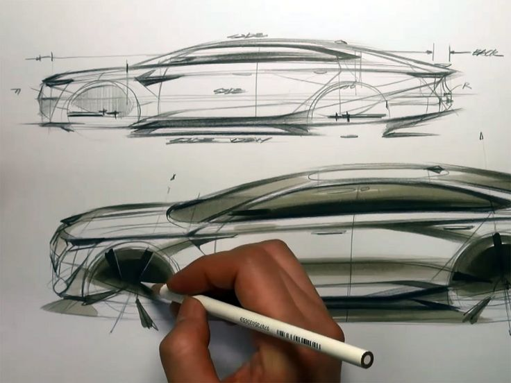Car Drawing video link: How to draw a car in Tip-Up View