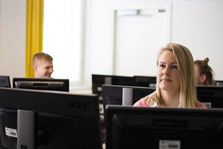 Our students in the computer room at Palosaari Campus.