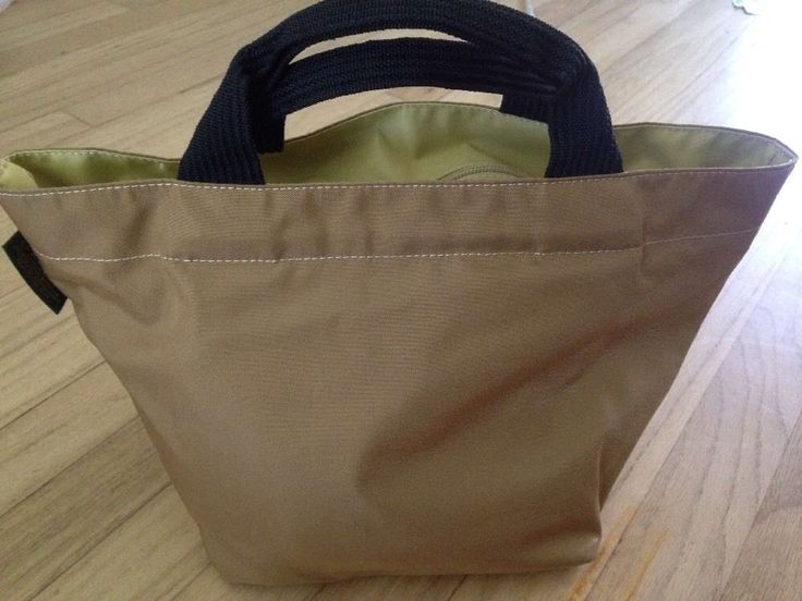 Herve Chapelier Paris Classic Shopper Taupe Gold Black Handle Small Great | eBay