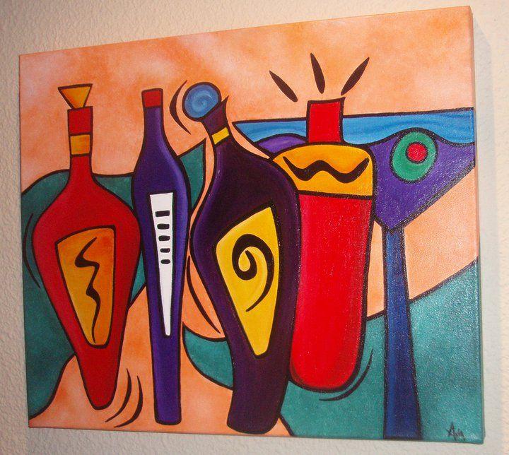 Cuadro realizado para una cocina cuadros hechos por mi - Cuadros decorativos para cocina abstractos modernos ...
