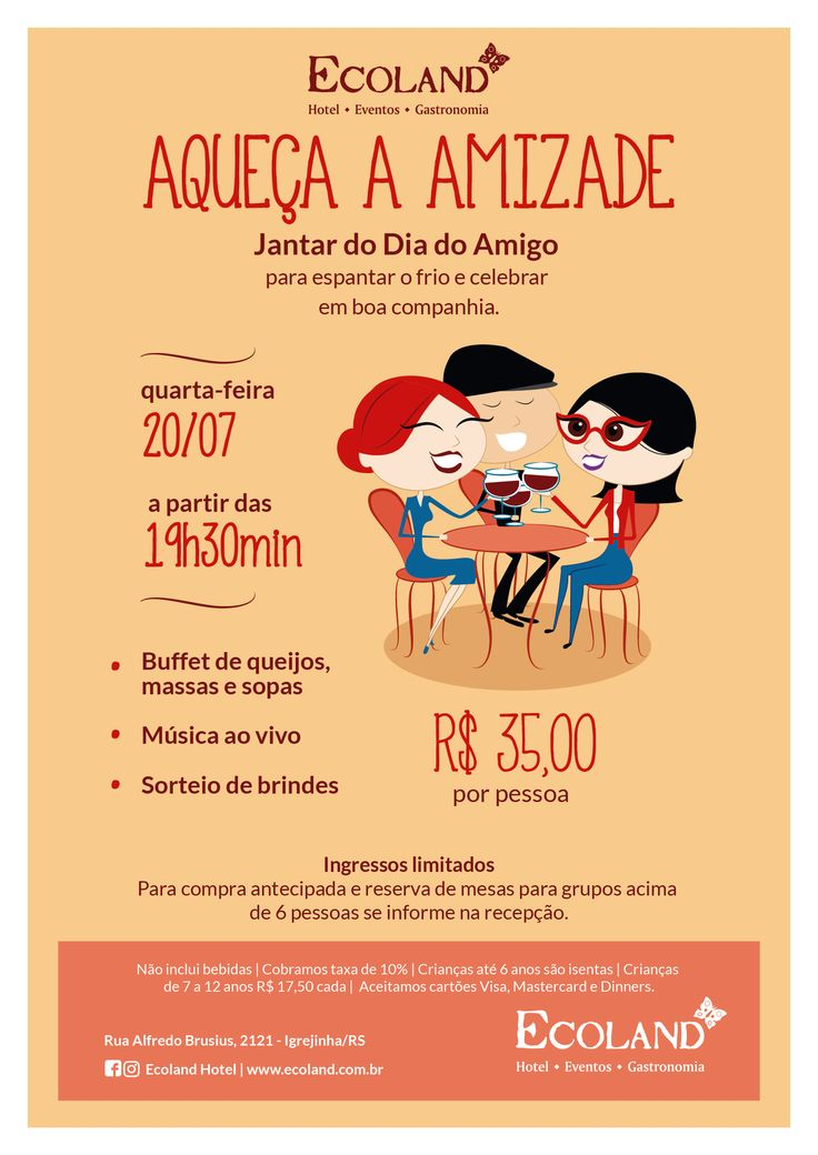 Campanha criada pela Agência Conceito para o Dia do Amigo do Ecoland.