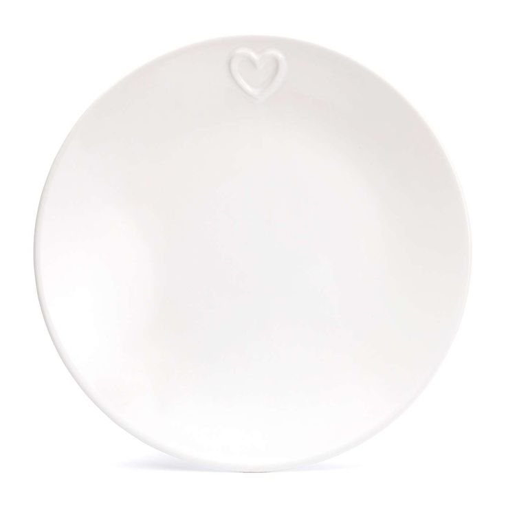 Country Heart Dinner Plate x2