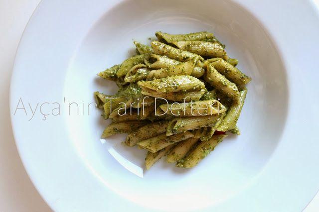 Panpankedi...: Pesto Soslu Makarna...Fesleğenli Penne