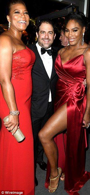 Best leg forward: Inside the Vanity Fair party, Williams caught up with director Brett Rat...