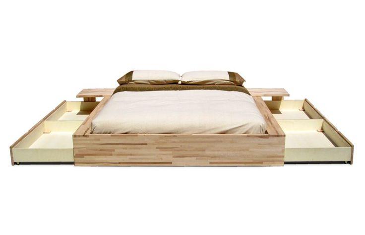 Letto contenitore matrimoniale in legno COMODO - Cinius