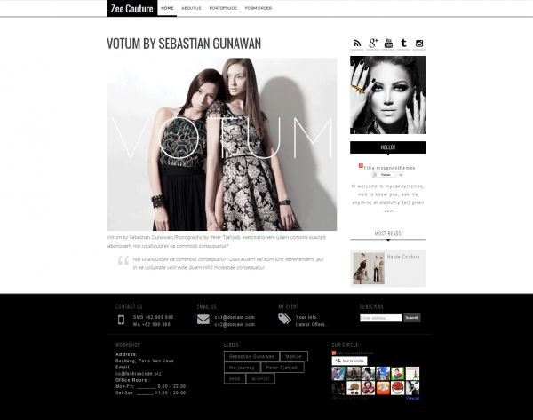 175 best blogger templates images on pinterest blogger templates zee couture fashionblogger template responsive blogger templates zee couture is modern responsive pronofoot35fo Choice Image