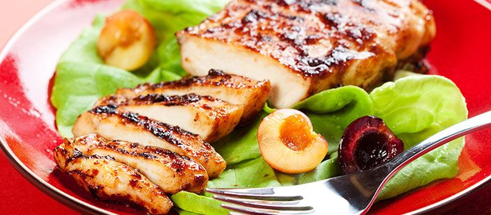 These grilled chicken breast will taste even much better when marinated over night.