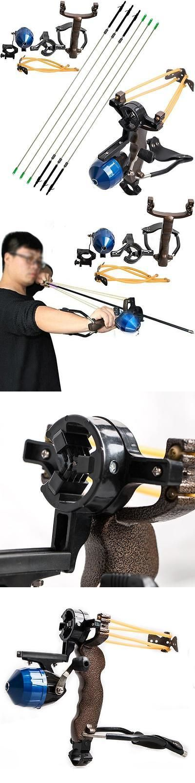 Slingshots 117141: Fishing Reel Slingshot Archery Sling Bow Hunting Catapult Shooting Carbon Arrows -> BUY IT NOW ONLY: $86 on eBay!