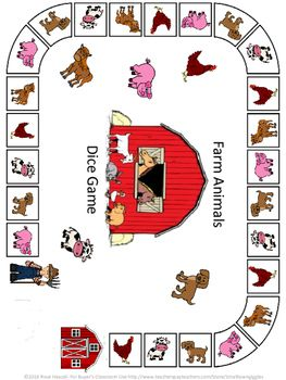 Farm Animals Broad Games and Mazes Pre-K, K, Autism, Special Education