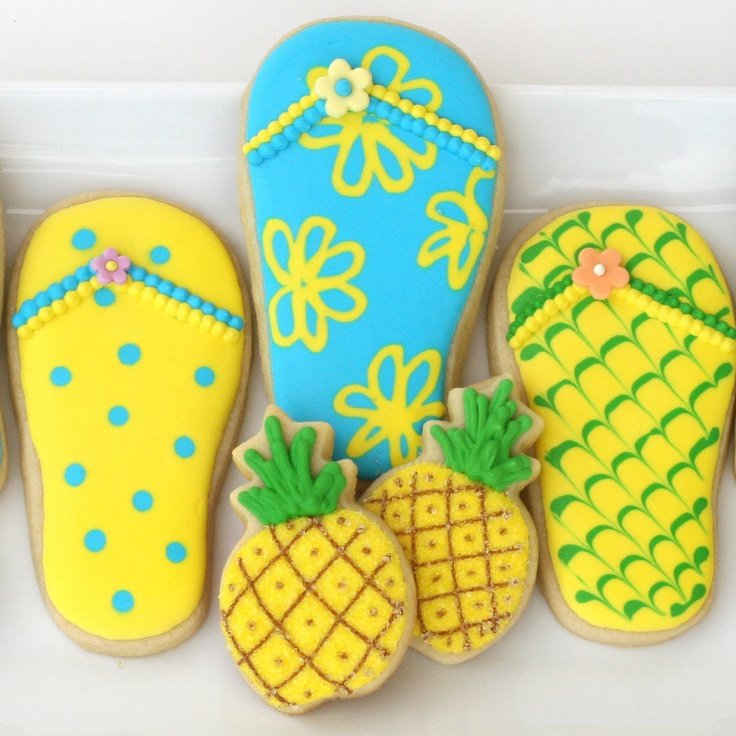 Cookie Decorating - How To Make Pretty Luau Cookies - Step by Step Instructions