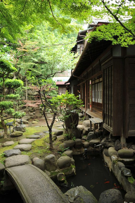 219 best images about japanese house engawa on for Traditional japanese garden