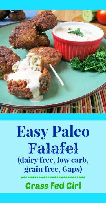 Easy Paleo Falafel (dairy free, low carb, grain free, Gaps)