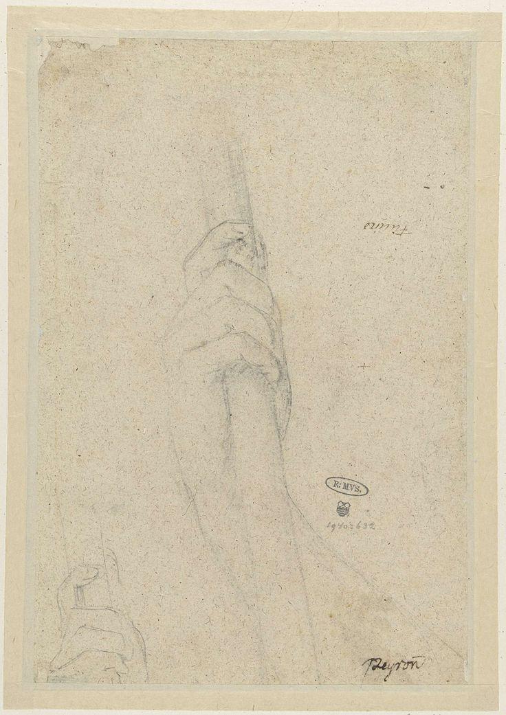 Jean François Pierre Peyron | Twee studies van een hand die een stok vasthoudt, Jean François Pierre Peyron, 1754 - 1814 |