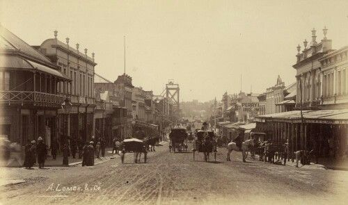 Looking down Queen St from Albert St intersection in Brisbane,Queensland in 1888.A♥W