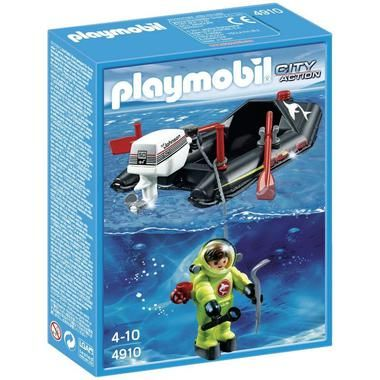 Playmobil Deep Sea Diver with Boat (4910)