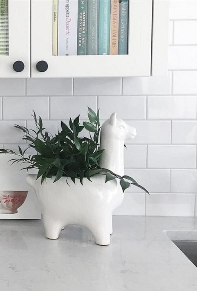 Ceramic Llama Planter | West Elm