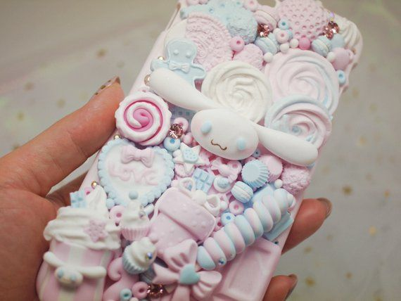 timeless design 1ee89 a1658 cinamoroll kawaii decoden phone case fake sweets | Products ...