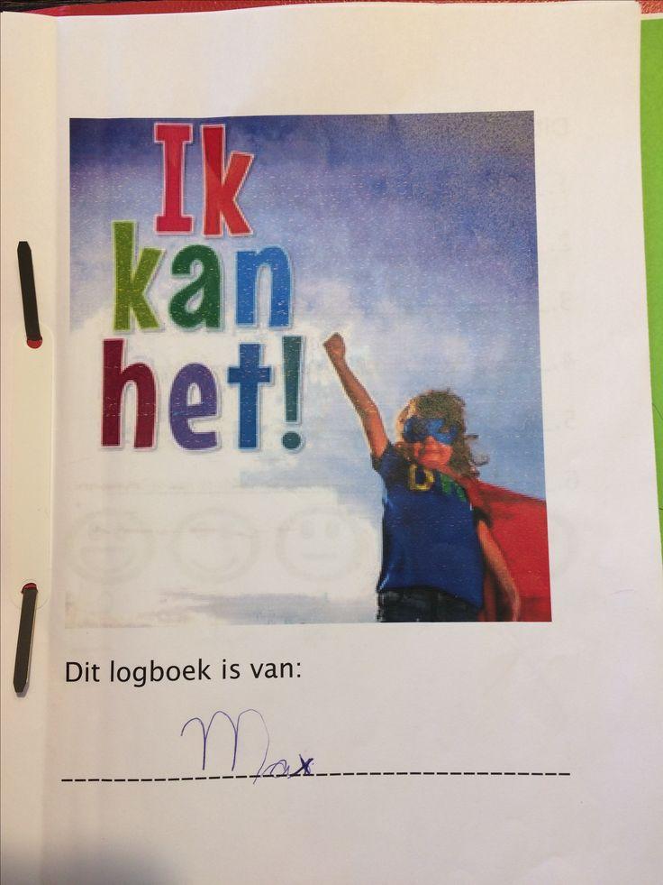 Max, Superheldenweek. Voorblad Logboek. 24-28 april 2017.