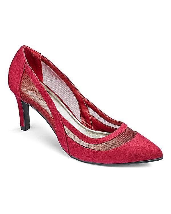 Sole Diva Mesh Detail Court Shoes E Fit