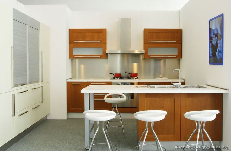 607 best images about modern kitchens on pinterest dark - Kitchen peninsula designs with seating ...