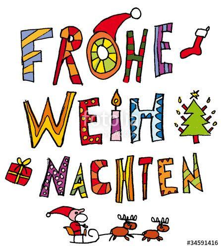Vektor: Kinder-Schrift Weihnachten