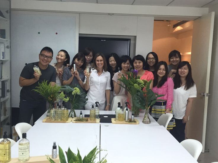Training the Bondi Wash team in Taiwan