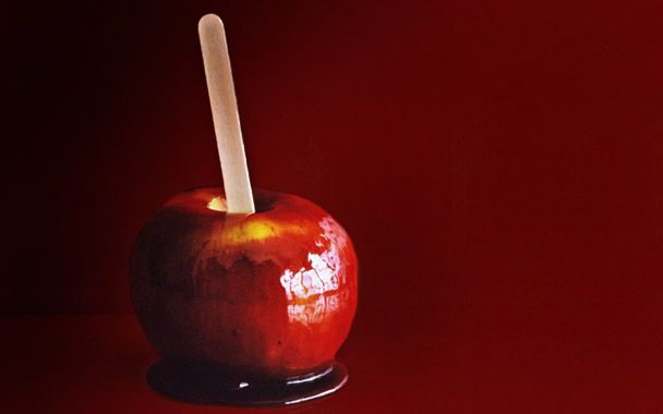 Red Wine Caramel Apples | Car-a-mel | Pinterest