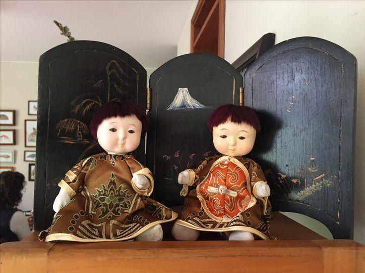 Muñecos de porcelana japoneses restaurados