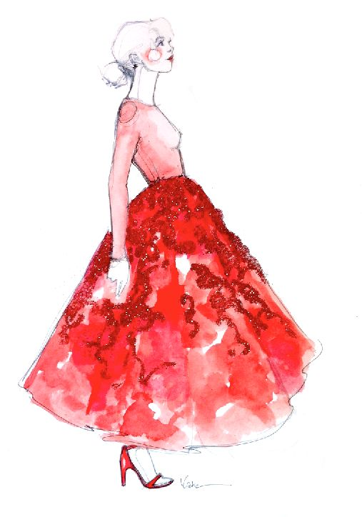 dior couture fashion sketch I #vday