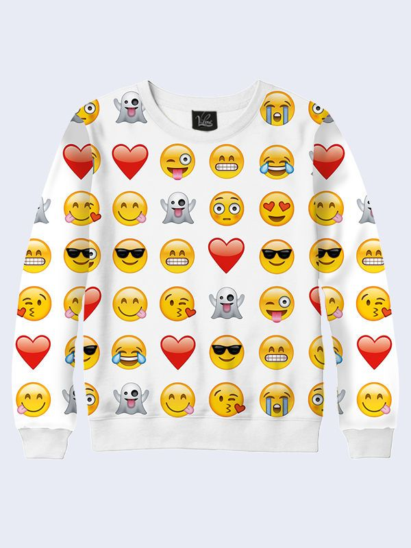 Girls Emoji Sweatshirt Kids Emoticons Smiley Face 3D Fashion Long Sleeves