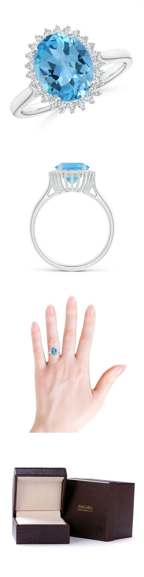Gemstone 177020: Vintage Style Solitaire Blue Topaz Diamond Cocktail Engagement Ring In 14K Gold BUY IT NOW ONLY: $767.99