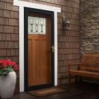 Andersen 36 in. x 80 in. 3000 Series Black Right-Hand Fullview Easy Install Aluminum Storm Door with Brass Hardware-3FVBEZR36BL - The Home Depot