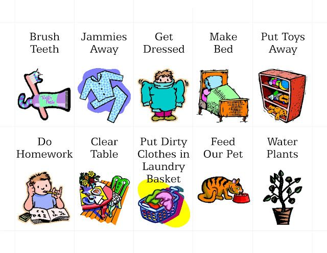 Free Printable Chore Clip Art by mollie MY DESIGN: Freebies
