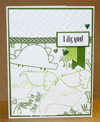 Nancy's CRAFTY blog: You're Dino-Mite! Sweet Leaf; Topiary; and Pear ink to stamp these sweet dinosaurs and other images, from Darling Dinos,