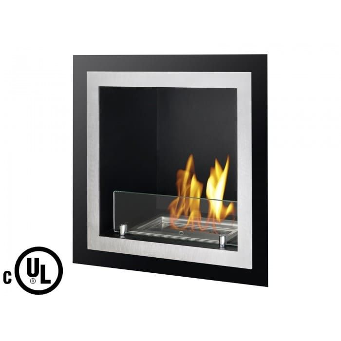 Ignis WMF-107-UL Antalia Recessed Ventless Ethanol Fireplace - Stainless Steel (Silver)