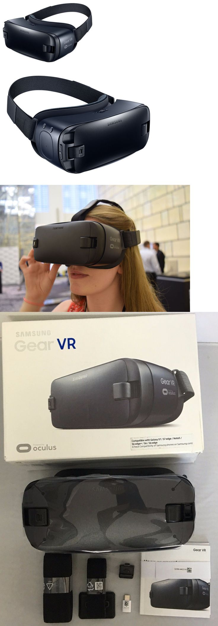 Smartphone VR Headsets: Samsung Gear Vr 2 Oculus Virtual Reality 2016 3D Usb-C Note 5 Galaxy S6 S7 Edge+ -> BUY IT NOW ONLY: $36.99 on eBay!